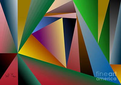 Triangles Art Print by Leo Symon