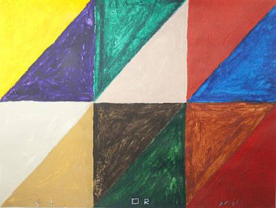Triangles Art Print by Stormm Bradshaw