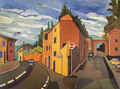 Painting - Triangular Building Tuscany by Doris  Lane Grey