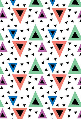 Triangular Dance Repeat Print Art Print by Susan Claire