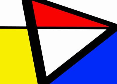 Triangularism I Art Print by Richard Reeve