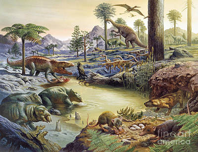 Triassic Photograph - Triassic Landscape by Publiphoto
