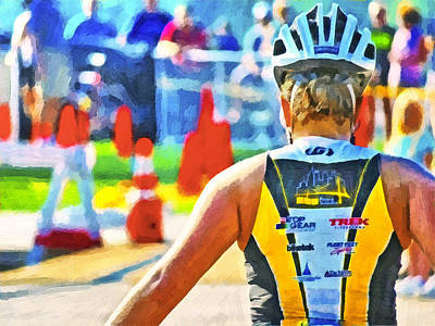 Digital Art - Triathlon 2 by Digital Photographic Arts