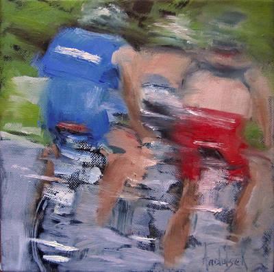 Bicycle Blur Original by Barbara Andolsek
