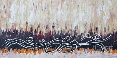 Ironman Painting - Triathlon Woods Sequence by Alejandro Maldonado