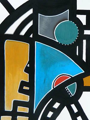 Dog Abstract Art Painting - Tribal By Elwira Pioro by Tom Fedro - Fidostudio