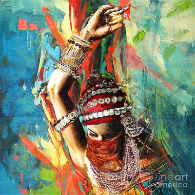Painting - Tribal Dancer 1 by Mahnoor Shah
