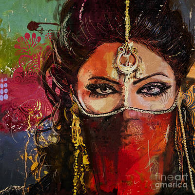 Painting - Tribal Dancer 2 by Mahnoor Shah