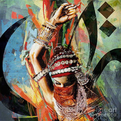 Painting - Tribal Dancer 4 by Mahnoor Shah