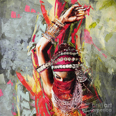 Painting - Tribal Dancer 5 by Mahnoor Shah