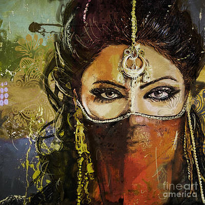 Painting - Tribal Dancer 6 by Mahnoor Shah