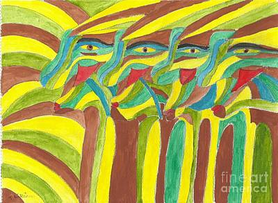 Painting - Tribal Gathering by Tracey Williams