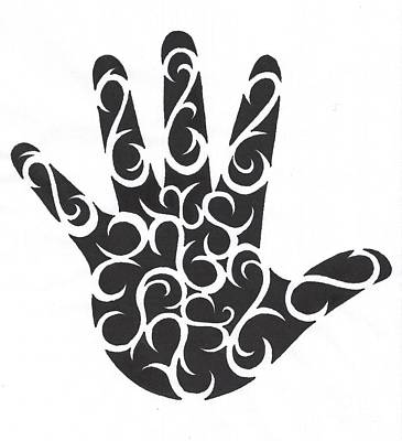 Tribal Hand Art Print