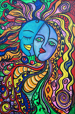 Trippy Painting - Tribal Love by Lorinda Fore and Tony Lima