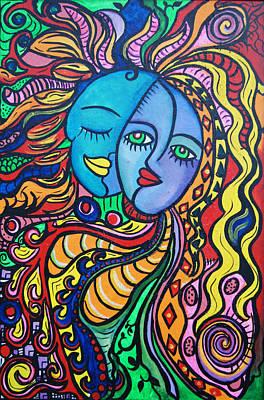 Tribal Love Art Print by Lorinda Fore and Tony Lima