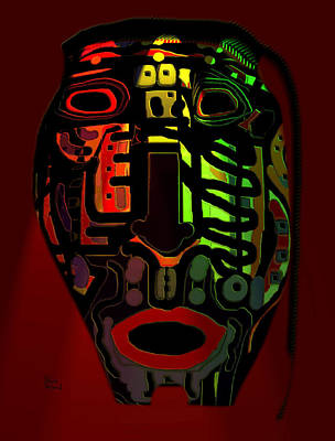 Tribal Mask Art Print by Natalie Holland