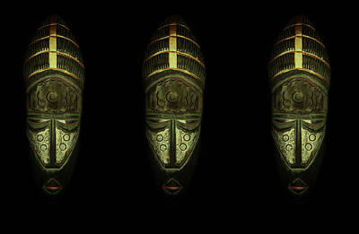 Photograph - Tribal Masks by David Dehner