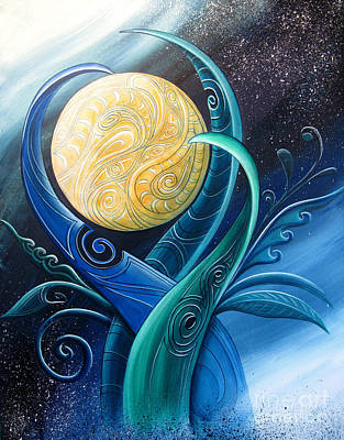 Nightlight Painting - Tribal Moon by Reina Cottier