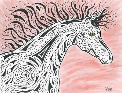 Tribal Spirit Wind Art Print by Susie WEBER