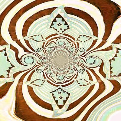 Tribal Stripe Field Of Dreams Art Print by Mj Petrucci