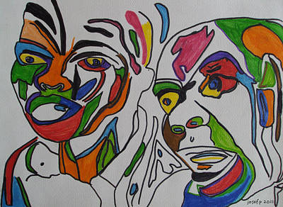 Tribal Thoughts 2011 Original by Sir Josef - Social Critic - ART