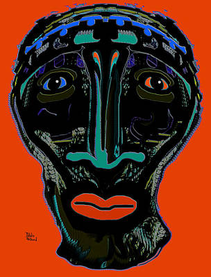 Silver Turquoise Mixed Media - Tribal Warrior by Natalie Holland