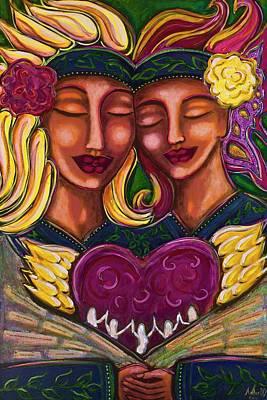 Sacred Feminine Painting - Tribe by Amber Bonnici