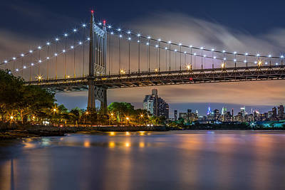 Art Print featuring the photograph Triboro Bridge by Mihai Andritoiu