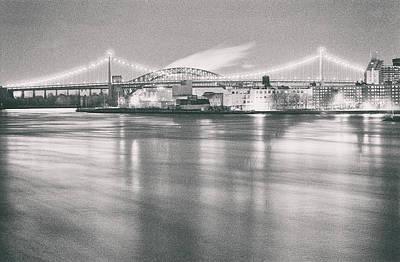 Photograph - Triboro Bridge Night by Dave Beckerman