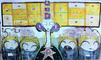 Painting - Tribunal Of Gods And Men The Vote Against You Cast Out Of This Realm by Mark M  Mellon