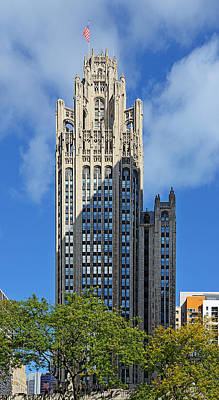 Images Photograph - Tribune Tower Chicago - History Is Part Of The Building by Christine Till