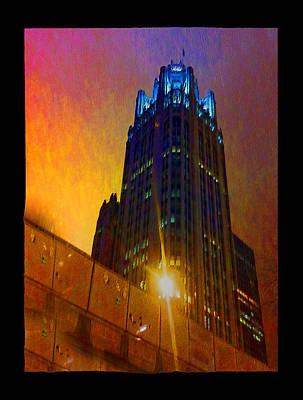 Digital Art - Tribune Tower by Zac AlleyWalker Lowing