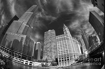 Photograph - Tribune Wrigley Trump by David Bearden