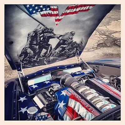 Iphoneonly Photograph - Tribute #corvette To All Veterans #usa by Mike Maher