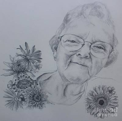 Gerber Daisy Drawing - Tribute Gin Gin by Katherine Tesch