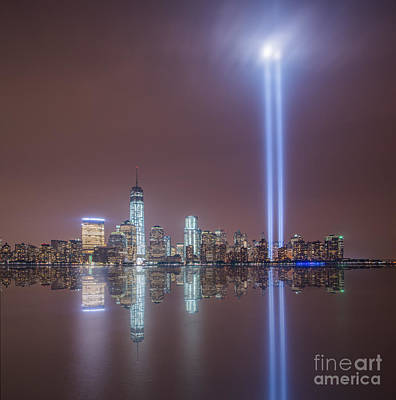 911 Memorial Photograph - Tribute In Light by Michael Ver Sprill