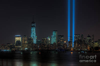 Photograph - Tribute In Light Xvii by Clarence Holmes