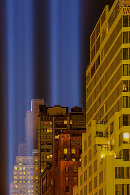 Photograph - Tribute In Lights 911 Wtc Nyc by Susan Candelario