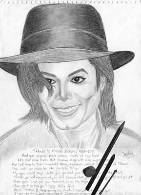 Michael Jackson Sketch Drawing - Tribute by Krishna Kc