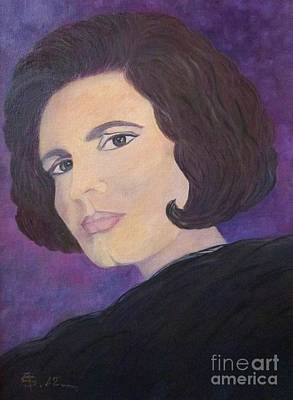 Tribute To Amalia Rodrigues The Queen Of Fado Art Print by AmaS Art