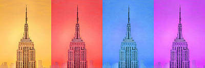 Empire State Building Digital Art - Tribute To Andy Warhol 2 by Az Jackson