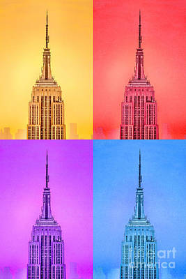 Empire State Building Digital Art - Tribute To Andy Warhol by Az Jackson