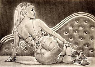 Austin Drawing - Tribute To Coco Austin by Enric Bug