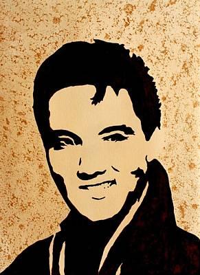 Tribute To Elvis Presley Art Print by Georgeta  Blanaru