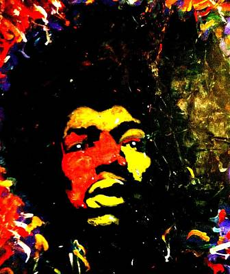 Painting - Tribute To Jimi by Neal Barbosa