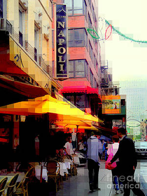 Photograph - Tribute To Little Italy - Caffe Napoli - N Y by Miriam Danar