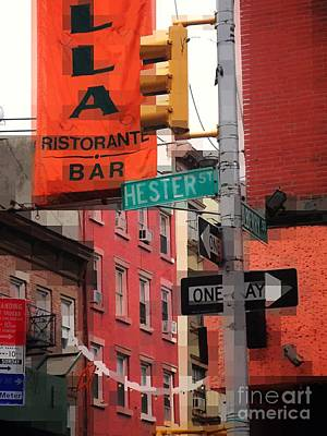 Photograph - Tribute To Little Italy - Hester And Mulberry Sts - N Y by Miriam Danar