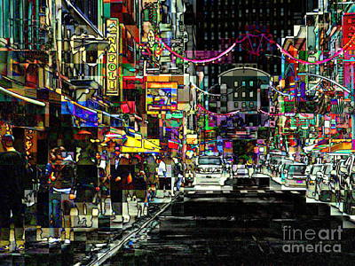 Photograph - Tribute To Little Italy - Stained Glass Effect by Miriam Danar