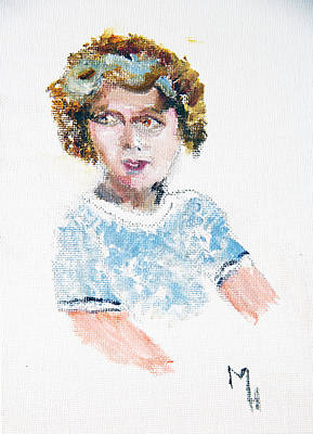 Shirley Temple Painting - Tribute To Little Shirley Temple by Michael Helfen