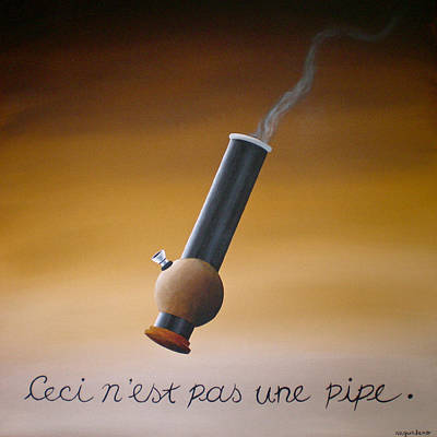 Painting - Tribute To Magritte by Ric Nagualero